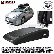 Inno BRA130 Flex Top Aero Roof Bag - Universal Mounting, Factory Rack Compatible Cargo Luggage Bag