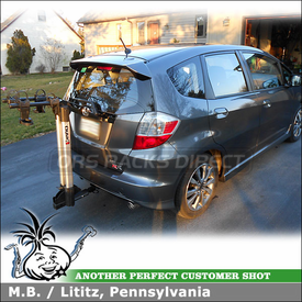 Inno INH 302 Aero Light Hitch Bike Rack for 2012 Honda Fit Sport Trailer Hitch Receiver