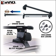 Inno Rack Packages - Inno IN-SU / 930EX Rail Slider Ski Rack / 6 Inno Locks