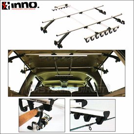 Inno ZR352 / ZR353 Standard Fishing Rod Racks - Car Interior Fishing Rod Holders for up to 10 Rods
