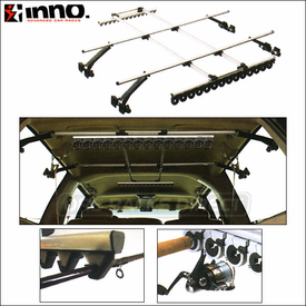 Inno ZR355 / ZR356 Premium Fishing Rod Racks - Car Interior Fishing Rod Holders for up to 14 Rods
