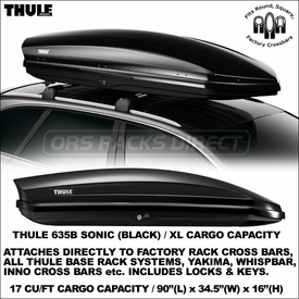 Introducing the Thule 635B and 635S Sonic XL Rooftop Cargo Boxes