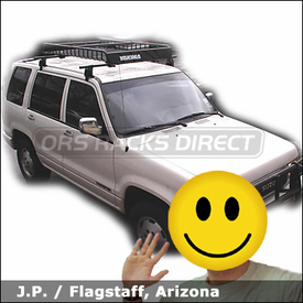 Isuzu Trooper Roof Rack Basket with Yakima Q Towers, LoadWarrior Basket & Load Warrior Extension