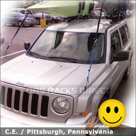 Jeep Patriot Roof Rack for Kayaks with Thule 450 CrossRoad System and Thule 835PRO Kayak Rack