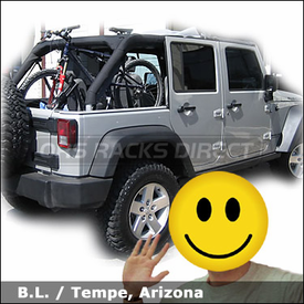 Jeep Wrangler 4 Door with Thule 501 Insta-Gater Bike Rack