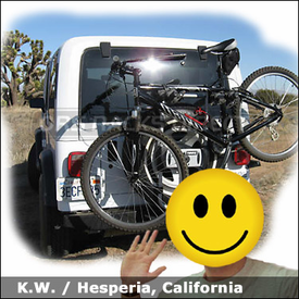Jeep Wrangler Spare Tire Mount Bike Rack with Thule 963XT Spare Me