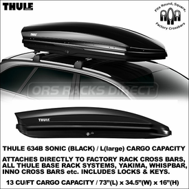Just In Are the Thule 634B and Thule 634S Sonic L Roof Cargo Boxes