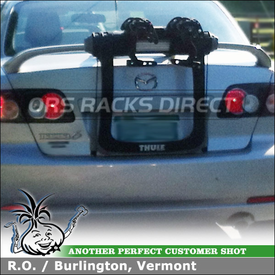 Locking Cable Trunk Rack for Two Bikes on a 2006 Mazda 6 With Rear Spoiler