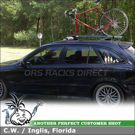 Locking Inno Roof Bike Rack for 2002 Mazda Protege 5 Factory Cross Bars