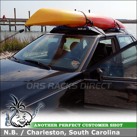 Malone HandiRack Rental Car Roof Rack for 1998 Volvo S90 To Carry A Kayak