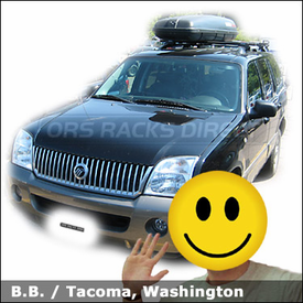 Mercury Mountaineer Roof Rack for Luggage with Yakima Lowrider Car Rack and Yakima RocketBox 11 Cargo Box