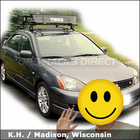 Mitsubishi Lancer Roof Rack Basket with Thule 400XT Car Rack System & 690XT MOAB Gear Basket