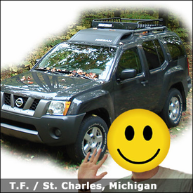 Nissan XTerra Roof Basket with Yakima LoadWarrior Basket Rack