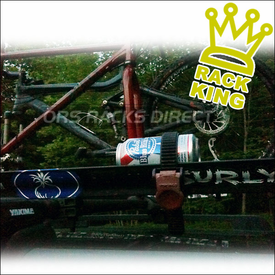 Pabst Blue Ribbon Beer Can Rack and Bicycle Carrier - Another Rack King of The Road!
