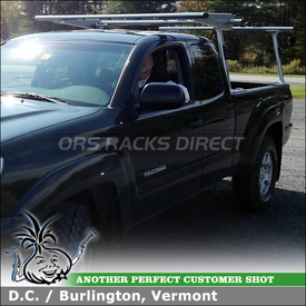 Pickup Truck Rack-Ladder Rack for 2013 Toyota Tacoma Bed Rails using TracRac T-Rac G2 and Cantilever Extension