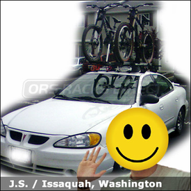 Pontiac Grand Am Bike Roof Rack with Thule 400XT System, 594XT SideArm & 599XTR BigMouth
