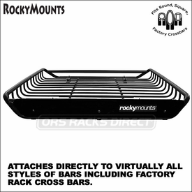 RockyMounts TailPipe Hitch Mount Tandem Bike Rack and Rocky Mounts 14er Cargo Luggage Roof Basket