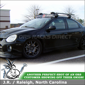 Roof Bike Rack and Wind Fairing for 2005 Dodge Neon SRT-4