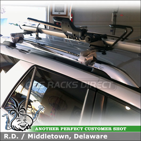 Roof Cross Bars Bike Rack for Raised Side Rails on a 2007 Saturn Vue