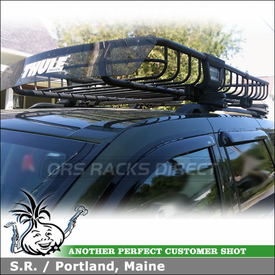 Roof Rack Cargo Luggage Basket on 2008 Jeep Grand Cherokee Factory Side Rails