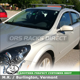 Roof Rack Cross Bars for 2010 Saturn Astra Using Thule AeroBlade Load Bars, 3025 Fit Kit and 460R Rapid Podium Foot Pack
