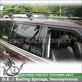 Roof Rack Cross Bars for 2012 Ford Flex Side Rails using Inno IN-FR Stays and B147 Cross Rails