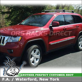 Roof Rack Cross Bars for 2012 Jeep Grand Cherokee Side Rails using Thule 460R Rapid Podium (w/ 460R Foot Pack, ARB47 AeroBlade Bars, 4019 Fit Kit)