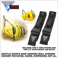Seattle Sports Boat Keeperz Kayak Hanger - also Wall Mount Storage Rack for Canoe, Surfboard, SUP, Ladder etc. - 025915
