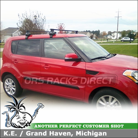 Square Cross Bars Cartop Rack for a 2012 Kia Soul