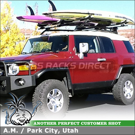 Stand Up Paddleboard Cross Bars Rack for 2010 Toyota FJ Cruiser Cartop Basket