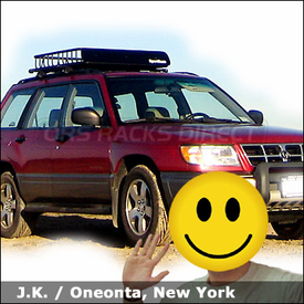 Subaru Forester Roof Rack Basket with Thule 440 System & SportRack Luggage Basket