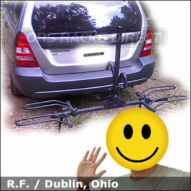 Subaru Forrester Bike Rack with SportRack a30901 2EZ Hitch Bike Rack