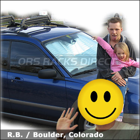 Subaru Impreza Outback Sport Ski Rack with Yakima Universal Mighty Mounts & Yakima Ski Rack (older model)