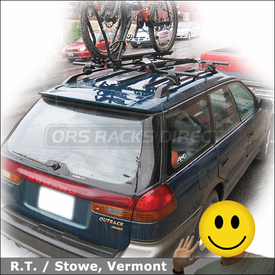 Subaru Legacy Outback Wagon Roof Rack for Bikes with Yakima Lowrider System, King Cobra & SteelHead
