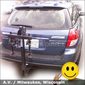 Subaru Outback Hitch Mount Bike Rack for 2 Bicycles with Thule 912 XT RoadWay