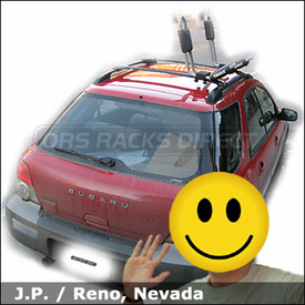 Subaru Outback Sport Factory Roof Rack Kayak Carrier with Thule 835XTR Hull-a-Port Kayak Rack