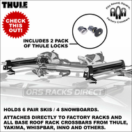 SUPER SALE Thule 91725 Universal Flat Top Ski Rack & Snowboard Rack for up to 6 pairs of skis or 4 snowboards