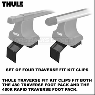 Thule 1656 Fit Kit Clips for 480 Traverse / 480R Rapid Traverse | Jeep Grand Cherokee Roof Rack Component