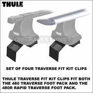 Thule 1671 Fit Kit Clips for 480 Traverse / 480R Rapid Traverse Ford Escape Roof Rack