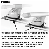 Thule 3101 Podium Fit Kit (set of 4) for use with 460 Podium Foot Pack  / 460R Rapid Podium Foot Pack