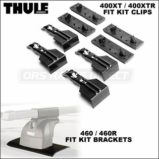 Thule 3112 Podium Fit Kit (set of 4) - Brackets for use with Thule 460 / 460R to Install Land Rover LR3 LR4 and Hummer H3T H3 Roof Rack