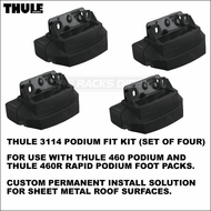Thule 3114 Podium Fit Kit (set of 4) - Custom Permanent Install Solution On Vehicle Sheet Metal Roof Surfaces etc.