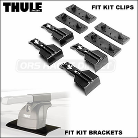 Thule 4014 Podium Fit Kit Clips (set of 4) - Brackets for use with Thule 460 / 460R to Install Audi A3 Sportback Roof Rack