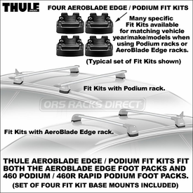 Thule 4023 AeroBlade Edge / 4023 Podium Fit Kit | BMW 3 Series Wagon, BMW X3 Roof Racks Component