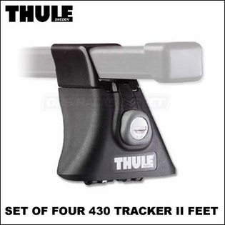 Thule 430 Tracker II Foot Pack (set of 4) | Roof Rack Component for Cars & Trucks with Factory Racks, Tracks, Fixed-Points etc.