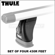Thule 430R Rapid Tracker II Foot Pack (set of 4) | Roof Rack Component for Vehicles with Factory Racks, Tracks, Fix-Points etc.