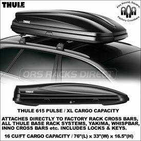Thule 615 Pulse XL Economical Rooftop Luggage Box Now Available