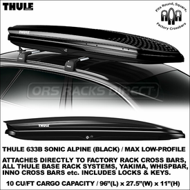Thule 633B and Thule 633S Sonic Alpine Roof Cargo Boxes Just Released