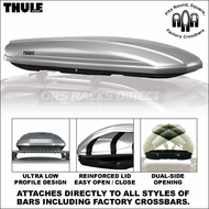 Thule 689USXT Spirit 1600 Cargo Box (Silver) - Ultra Low Profile Car Rooftop Cargo Carrier