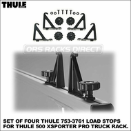 Thule 753-3761 Load Stops (set of 4) - All-Purpose Tie Downs for Thule 500 Xsporter Pro Truck Rack